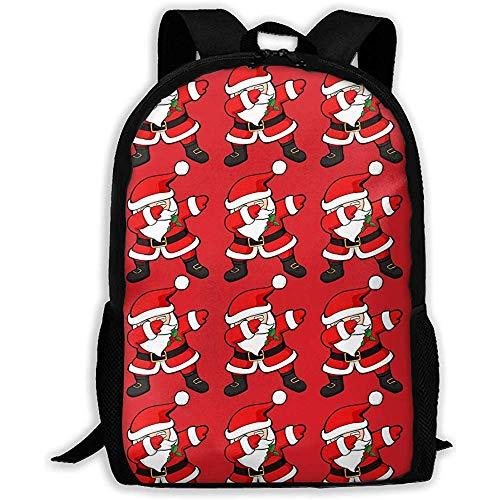 Schulrucksack,Schultasche,Männer/Frauen Rucksäcke,Lässiger Oxford Backpack,Lustige Tupfen Santa Claus Christmas Dab Computer Laptop-Tasche, Business Rucksack, Unisex Bookbag -