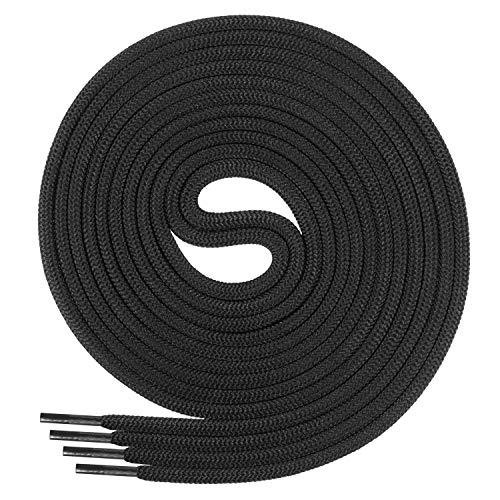 Di Ficchiano Schnürsenkel, Rundsenkel für Business- und Lederschuhe, reißfester Allroundsenkel, ø 3mm Farbe schwarz Länge 80cm