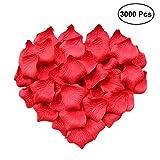 Ealicere 3000 Stück rosa Rosenblätter Rosenblüten für Hochzeit Party Dekoration und Romantische Atmosphäre für Valentinstag Kunstblumen Seidenblumen (Rose mit Schwarzem)