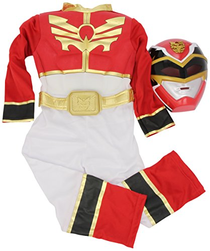 Megaforce Ranger Red Kostüme (Rubies 3886669 - Red Power Ranger Muscle Chest Kostüm,  Größe: )