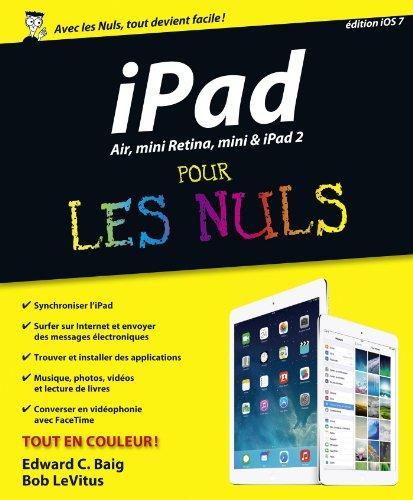 Livre gratuits en ligne iPad Air, mini Retina, mini & iPad 2 Pour les Nuls pdf epub