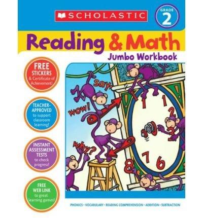 Reading & Math Jumbo Workbook: Grade 2 (Paperback) - Common
