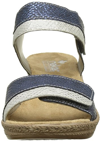 Rieker Damen 62470-14 Sandalen Blau (Royal/ice)