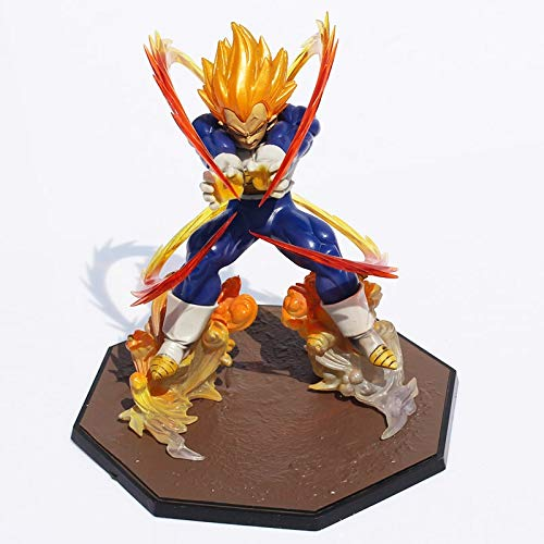 Anime Dragon Ball Z Super Saiyan Vegeta Battle State Final Flash PVC Figura de acción Juguete Modelo Coleccionable 15 cm