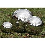 Kugel Edelstahl Schwimmkugel Gartenkugel silber glänzend 35cm
