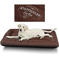 [Gesponsert]Knuffelwuff 13969-006 Wasserfestes Hundebett Avery mit Vintage Aufdruck, XXL, 120 x 85 cm, braun