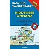 Rad- und Wanderkarte Hiddensee, Ummanz: Mit Ortsplänen von Vitte, Neuendorf, Kloster. Maßstab 1:30.000. Wasser- und reißfest.