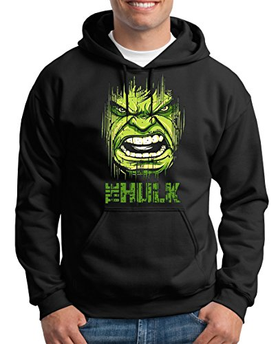 TLM Hulk Face Kapuzenpullover Herren XXXXL (Superhelden Ten Frauen Top)