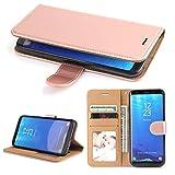 Galaxy S8 Hülle, SOWOKO Leder Etui Flip Case Handyhülle für Samsung Galaxy S8 Wallet Tasche mit Integrierten Kartensteckplätzen und Ständer/ Magnetverschluss, Rose Gold