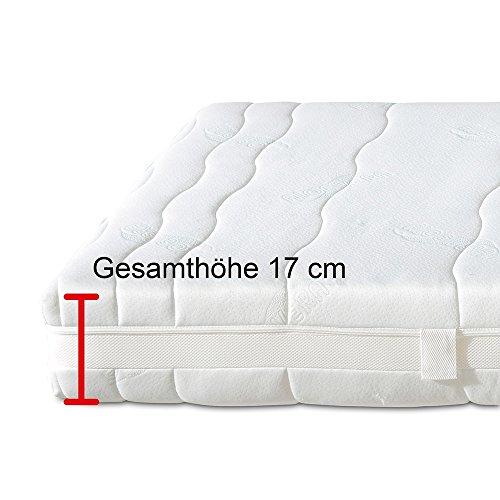 Aktivmed Memory Matratze, orthopädische Kaltschaummatratze mit Visco-Schaum, H2 weich 100 x 200 cm