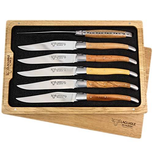 Laguiole en Aubrac 6 Couteau à Steak forgé