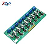 AC 220V 8 canaux MCU TTL niveau 8 ch optocoupleur isolement test Board isolated Detection tester module processeurs PLC