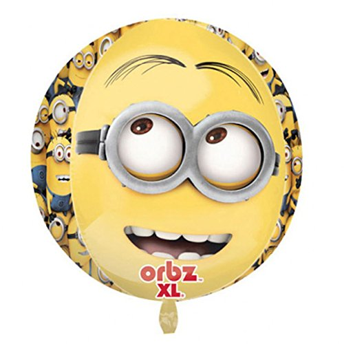 Amscan 2995901 Folienballon Kugel Minion, Multi