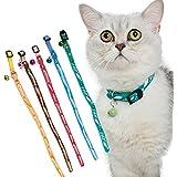 Tofern Katzenhalsband Halsband Halsumfang Halskette Sicherheitshalsband Katze Leder 5 Stücke