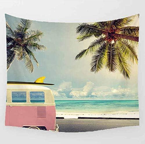 Mr.shaohua Estate Vacanza Mare Spiaggia Scenario Modello Attaccatura Piuttosto arazzi Attaccatura Modello a Muro Stampato casa Decorazione arazzo 150x130cm 01c7a5