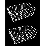 """Kitchen Under Shelf Storage Basket Large - 16"""" Lightweight Metal Organizer Rack"""