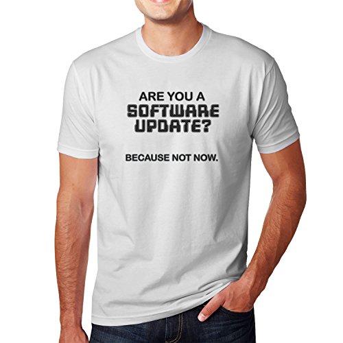 Planet Nerd - Are you a Software Update - Herren T-Shirt Weiß