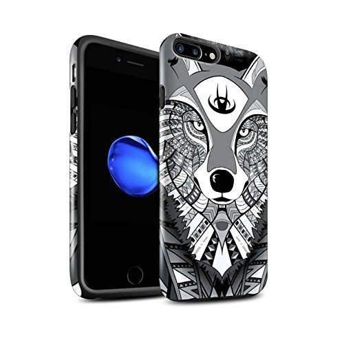 Coque Brillant Robuste Antichoc de STUFF4 / Coque pour Apple iPhone 5/5S / Singe-Couleur Design / Motif Animaux Aztec Collection Loup-Mono