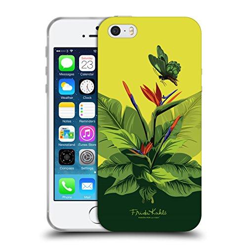 Offizielle Frida Kahlo Monkey Tropisch Soft Gel Hülle für Apple iPhone 5 / 5s / SE Vögeln in den Zweigen
