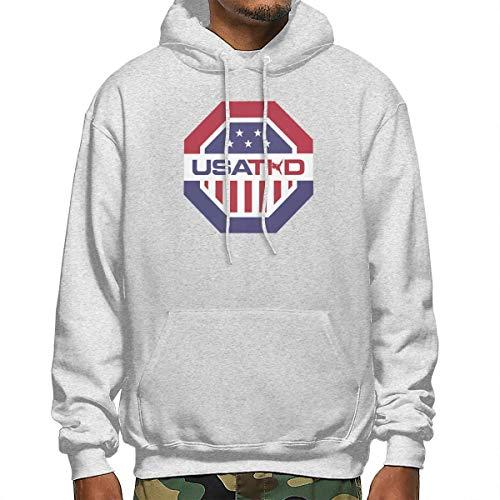 Rüstung Gott Des Kostüm - ghnfgxchxfg USA Taekwondo Men's Long Sleeve Pullover Hoodie Sweatshirt Kangaroo Pocket Hoodie XXX-Large