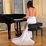 Gusaman Klavierbank Pianobank Klavierhocker Pianohocker Klavierschemel Höhenverstellbar