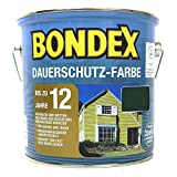 Bondex Dauerschutzfarbe RAL 6009 tannengrün 2,5L, für Holz Innen und Außen