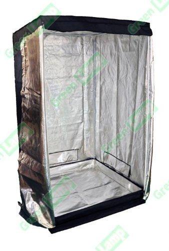 Green Lamp Premium 80 x 80 x 160 cm Noir à revêtement en Mylar 600 D Hydroponics Tente