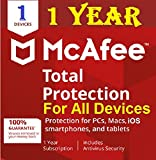 #2: McAfee Total Protection 2018 / 2017 For 1 User / 1 PC 1 Year (No CD)