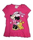 Disney Baby Minnie Maus Mädchen T-Shirt (80 (12/18 Monate) Pink)