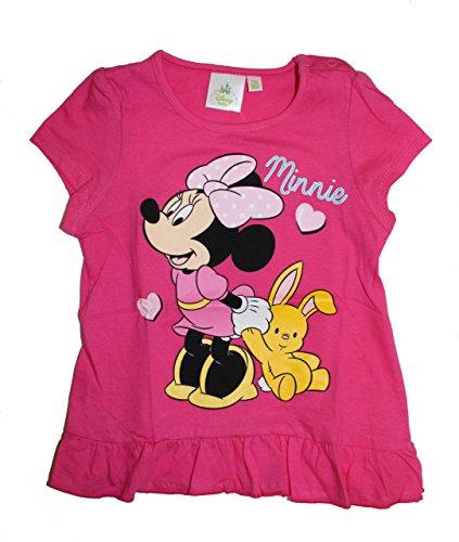 Disney Baby Minie Maus Mädchen T-Shirt (68/74 (9/12 Monate) Pink)