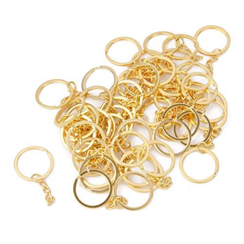IPOTCH 50er Set Schlüsselringe 28mm Metallringe Schlüsselanhänger Verbinder Ring - Gold (Schlüsselanhänger Kleine Ringe)