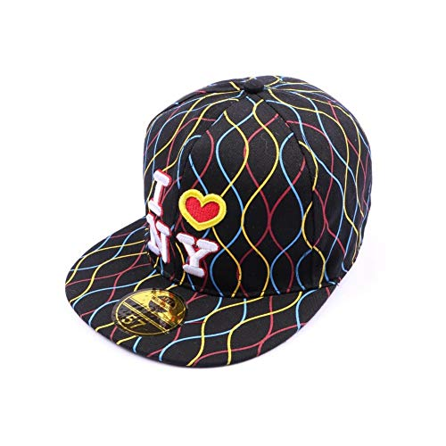 Casquette NY fitted Noire avec rayures - Mixte