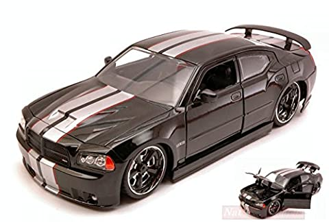 JADA TOYS JADA96807BK DODGE CHARGER SRT/8 2006 RIBON 5 BLACK 1:24 DIE CAST MODEL