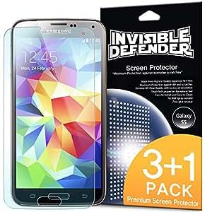 Galaxy S5 Schutzfolie Invisible Defender (3+1 Pack/ Maximale HD Klarheit) S5 Displayschutz Lebenslange Garantie, perfekte Touch Präzision, High Definition (HD) Durchsichtige Folie für das Samsung Galaxy S5 2014