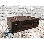 Koffer aus Holz Antik-Look Lagerung Trunk Hochzeit Karten Halter Post Box 2 Größen