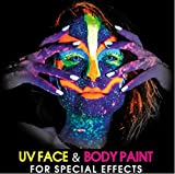 UV Glow Neon Face and Body Paint 10ml - Set of 6 Tubes by Splashes & Spills by INNOX TRADING LTD