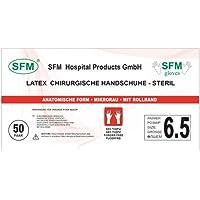 SFM ® OP Latex : 6.0, 6.5, 7.0, 7.5, 8.0, 8.5, 9.0 steril puderfrei texturiert chirurgische OP-Handschuhe Einmalhandschuhe Einweghandschuhe weiß 6.5 (50 Paare)