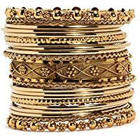 Bindhani Gold-Plated Bangle Set For Women