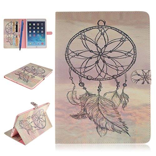 iPad Mini 1/2/3 Funda,Careynoce Atrapasueños León Tigre Pattern Flip PU Cuero Carcasas Funda Case Cover para Apple iPad Mini 1 iPad Mini 2 iPad Mini 3 (7.9 pulgada) - Atrapasueños