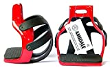 Marke New Amidale Aluminium ENDURANCE Flex Ride käfigbetten Sicherheit Pferd Steigbügel