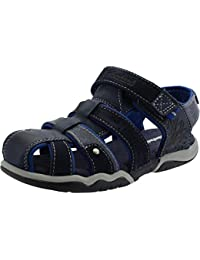 Timberland Park Hopper Fisherman Junior Navy Leather Flat Sandals
