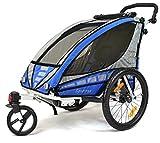 Qeridoo Kinderfahrradanhänger Sportrex1, Blau, Q3000A