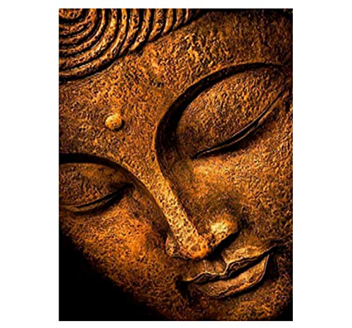 Ölfarbe Malen Nach Zahlen DIY Frameless Buddha Kopf Religiöse Ikone Artsacrylic Paint On Canvas Modern for Home Arts 40x50cm
