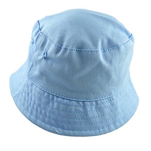 Sun Hat Boys Toddler Unisex Cotton Bucket Style Summer Beach Hat. Blue Or  White. 5 Sizes 427967a044ca