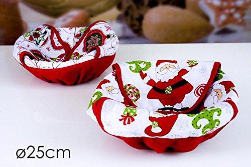 Cestini portapane natalizio 25cm diametro art. 627924