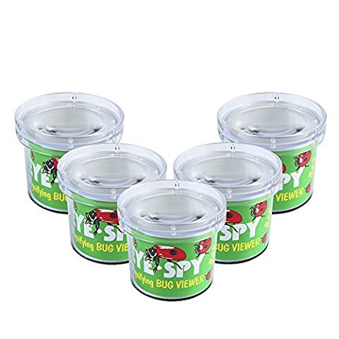 SainSmart Jr. Kids Bug Catchers and Viewer Bug Cage with Magnifying Viewer for Children's Day Children's Day Gift (5 Pack)