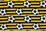 Jerseystoff Fußball schwarz-gelb | 1,46 Meter breit | wird