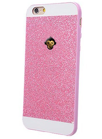 Monkey Cases® iPhone 6 / 6s - Premium Glitzer Monkey Edition - Handyhülle - Original (Creme/Weiß) Pink