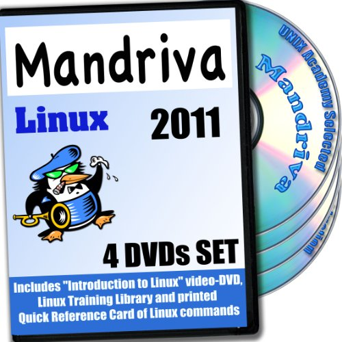 Mandriva 2011 Linux 4-Disk DVD komplettes Installations- and Referenz- Set (Mac Os X-installations-disk)