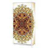wandmotiv24 Kleiderschrank Vintage Blumendekoration 2 türig Komplett Bedruckt, modern Aufbewahrung Weiss Hochglanz mit Kleiderstange, 80cm breit, 180cm hoch, 50cm tief